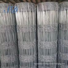 Clôture galvanisée en métal de bétail / barrière galvanisée de champ