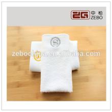 Alta qualidade pura algodão branco bordado logotipo toalha de mão define