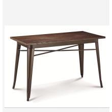 China mobília da mobília amostra grátis retângulo de madeira mesa de jantar de moda