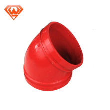 grooved Ductile Iron Pipe Fittings duct elbow