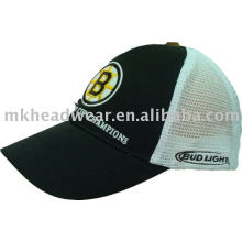 men's trucker cap with patch work and emb