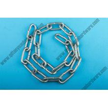 China fabricação aparelhamento cadeia de Link médio aço carbono galvanizado elétrico