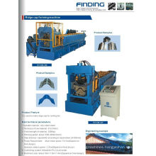 High efficient glazed steel metal roof ridge cap roll forming machine