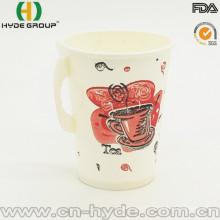 Tasse chaude de papier de café de mur simple jetable de 9oz avec la poignée