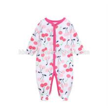 2017 новый дизайн новорожденных девочек комбинезон комбинезон клубника отпечатано с длинным рукавом зимний комбинезон Baby