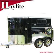 CE cercificate personalizada remolque caballo caballo de 2 caballos carga recta