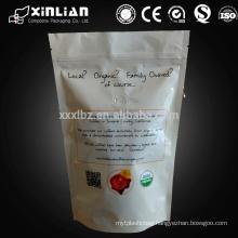 custom printing digital printing coffee bags ziplock white stand up coffee bag