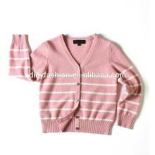 Hot sale cashmere unisex V neck strips design sweater