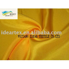 Satin Fabric 75D Shiny Golden Yellow Polyester