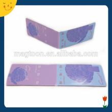 Señal de encargo del rectángulo de encargo del color púrpura del tamaño grande del tamaño pequeño