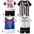 2017 new summer design infant romper sport baby romper 100% cotton printed adult baby romper wholesale with short sleeve