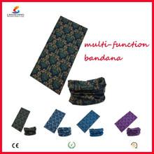 Ningbo Lingshang 100% Polyester Microfibre Nahtlose Schädel Muti-finction Bandana Neck Tube Headwear