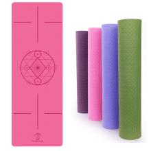 Folding Durable Yoga Pad colorful TPE Yoga Mat thick custom recycled yoga mat tpe