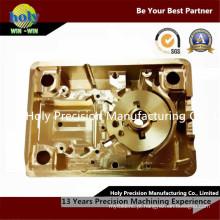 Peças Usinagem CNC com Banhado a Ouro