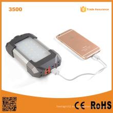 Lumifire 3500 21 LED USB para carga móvil Dynamo Mano Crank linterna de camping solar