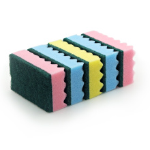 Kitchen Hard Wave Shape Non-scratch Dish Cleaning Sponge Scouring Pad