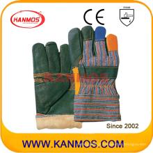 Rainbow Furniture Cowhide Leather Winter Work Luvas de segurança industrial (31301)