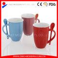 Ceramic Mug with Spoon, Ceramic Coffee Mug Spoon in Handle