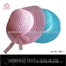 Chapéu de sol de praia para crianças de moda feito à mão