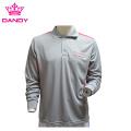 Grey Mens Long Sleeve Polo Shirts