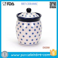 China Hand Made Cozinha Ceramoic Storage Jar Frasco De Café De Açúcar