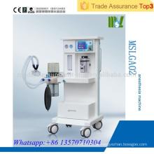 MSLGA02 Günstige medizinische Anästhesie-Maschine Blaue LED-Bildschirm Anästhesie-Maschine