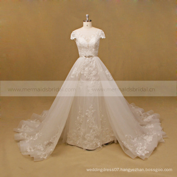 Wedding dress stores with detached skirt bridal dress princess