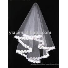 2013 Applique Tulle velo de la boda V006