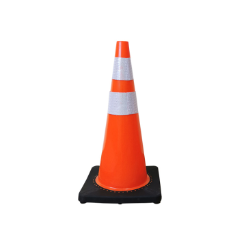 reflective film black base road traffic cone