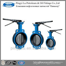 Standard grey iron wafer center line butterfly valve dn100