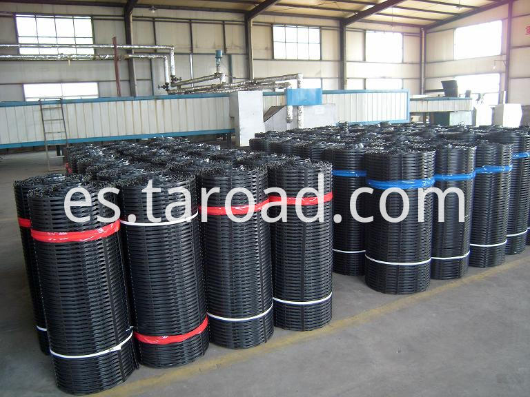 PP Uniaxial geogrid for retaining wal