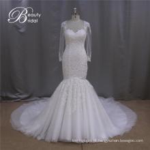 Vestido de noiva de manga longa do laço da China