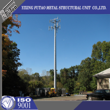 36M Galvanized Telecom Monopole Tower Made Of steel