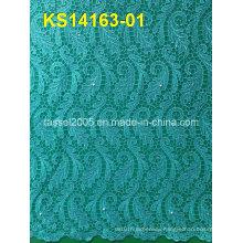 New Design China Nylon Spandex Lace/Cord Lace Fabric for Wholesale