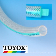 TOYOFOODS soft PVC food hose for oil, chemicals, beverages, hot water. Manufactured by Toyox. Made in Japan (toyox hose)