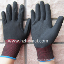 13 Gauge Nylon Gloves Sandy Nitrile Coated Safety Work Glove