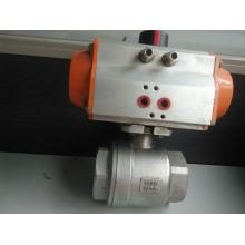 Válvula de bola de rosca Famale neumática de dos piezas (válvula de bola 2PC)