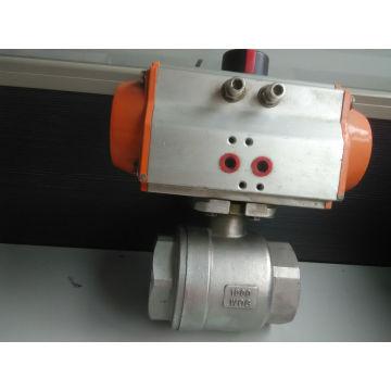 Válvula de esfera pneumática de duas partes da linha de Famale (válvula de bola 2PC)