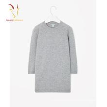 Suéter largo 100% Pure Cashmere cuello redondo vestido largo