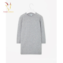 Camisola 100% Pura Cashmere em torno do pescoço Long Neck Dress