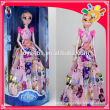 11 inch fashion beauty winter romance theme music lights doll toy for girls