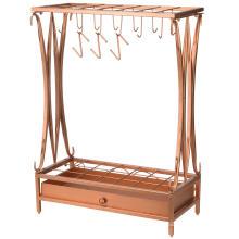 High-end Modern Copper color Metal Umbrella Stand Holder For Garden