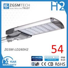 avec l'usine prix efficacité lumineuse élevée 240W LED Light Street prix CEGS répertoriés