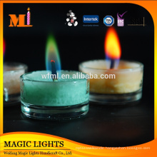 Luxury Glass Jar Color Candle with lid