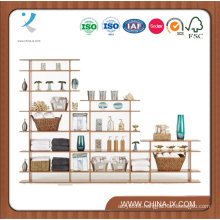 Customized 9′ Wide 3-Tier Display Shelf with Space Divider