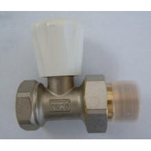 Messing vernickelt Heizkörper Wasserventil (a. 0209)