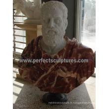 Sculpture en buste de statue avec pierres de grès en granit de pierre (SY-S236)