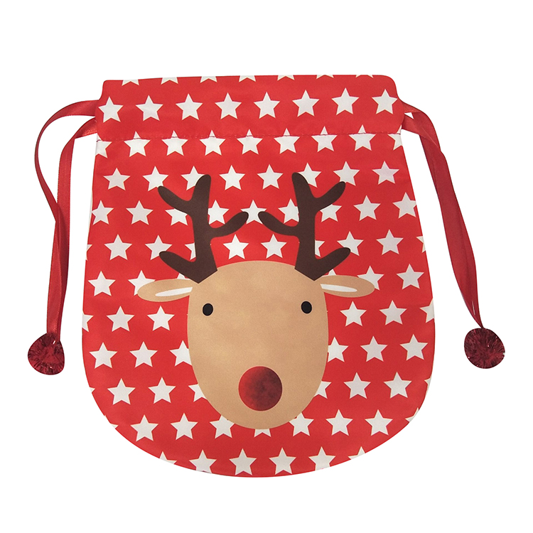 Portable Christmas Reindeer Pattern Bag