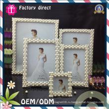 Набор из 5PCS квадратного типа Pearl Design Photo Frame