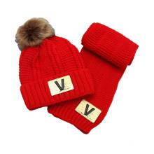 Kids Baby Unisex Children Boys Girls Winter Cable Twisted Beanie Hat Set Scarf (SK415S)